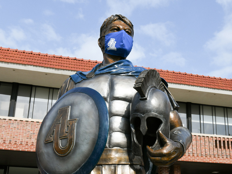 Spartan Statue With Mask