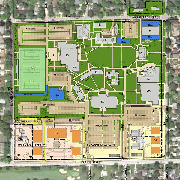 Aurora University Map Master Plan