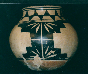 polychrome potter jar, southwest